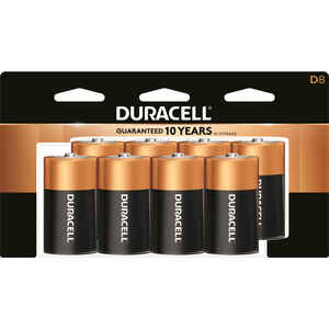 Duracell  Coppertop  D  Alkaline  Batteries  8 pk Carded  1.5 volt