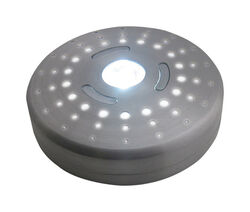 Rite Lite  Silver  Battery Powered  LED  Puck Light  1 pk