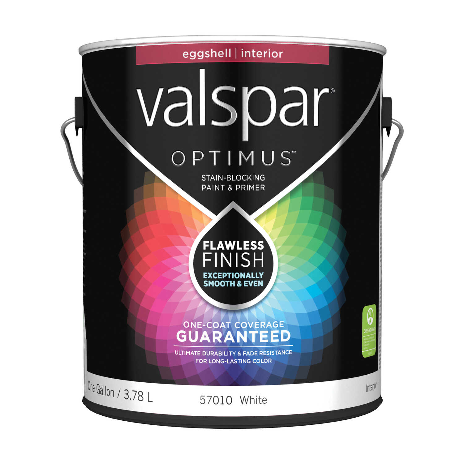 Valspar  Optimus  Eggshell  Basic White  White Base  Acrylic Latex  Paint and Primer  1 gal.