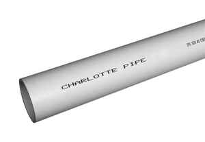 Charlotte Pipe  PVC Foam Core Pipe  4 in. Dia. x 5 ft. L Plain End  Schedule 40