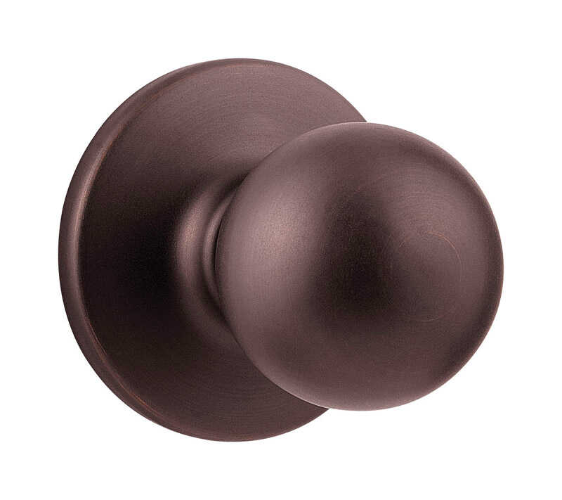 Kwikset  Polo  Venetian Bronze  Metal  Passage Door Knob  3 Grade Right or Left Handed