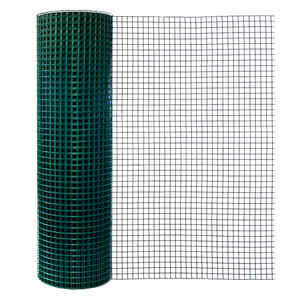 Mega Roll  48 ft. H x 100 ft. L 16 Ga. Green  Poultry Fence
