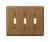 Amerelle  Contemporary  3 gang Wood  Toggle  Wall Plate  1 pk