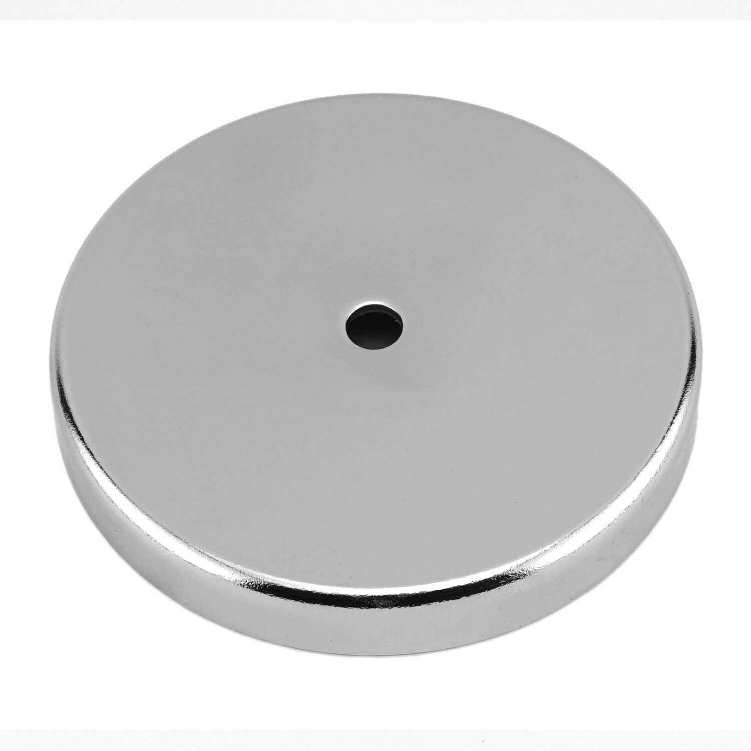 Master Magnetics  .18 in. Ceramic  11 lb. pull 3.4 MGOe Silver  2 pc. Round Base Magnet