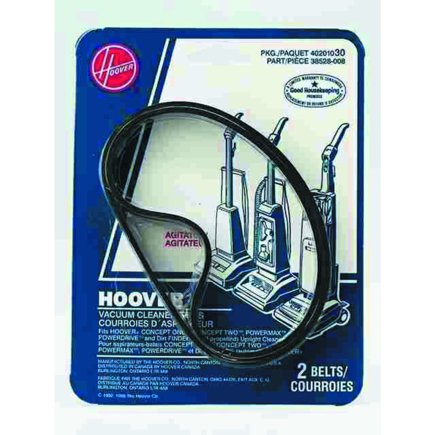 Hoover Vacuum Belt For Fits Hoover Convertible Decade 30 2 pk