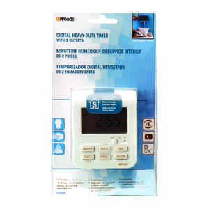 Coleman Cable  Indoor  Timer  White