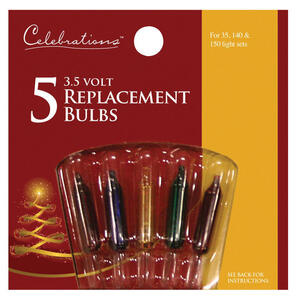Celebrations  Incandescent  Mini  Christmas Light Bulbs  Clear  5 lights