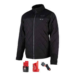 Milwaukee  M12 AXIS  L  Long Sleeve  Unisex  Full-Zip  Heated Jacket Kit  Black