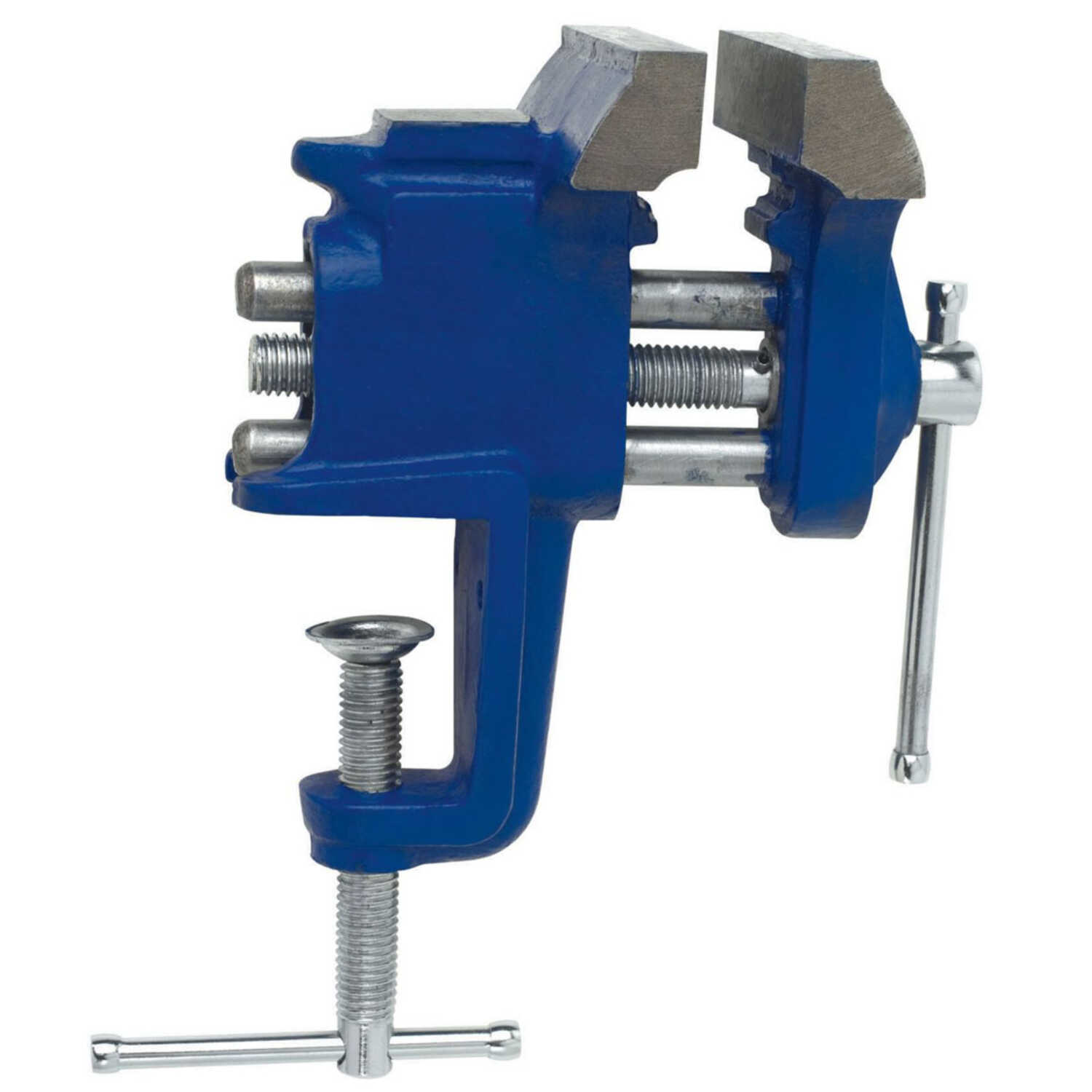 Irwin  3 in. Steel  Stationary Bench Vise  Blue