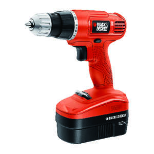Black and Decker  18 volt 3/8 in. Cordless Drill Driver  Kit 750 rpm 1
