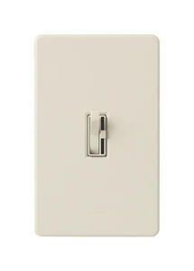 Lutron  Toggler  Light Almond  600 watts Toggle  Dimmer Switch  1 pk