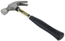 Steel Grip  16 oz. Smooth Face  Claw Hammer  Steel Handle