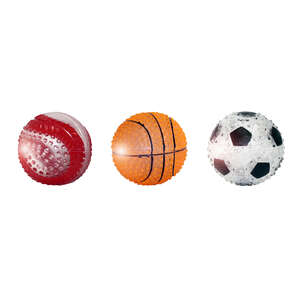 MultiPet  Multicolored  TPR  Sports Ball  Sport Ball