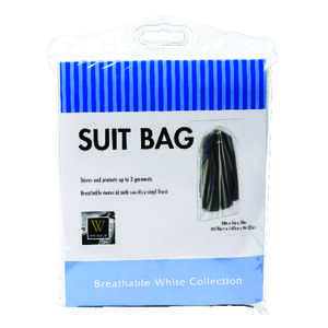 Whitmor  24 in. H x 38 in. L x 3 in. W Vinyl  Hanging Suit Bag  1