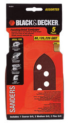 Black and Decker  Mega Mouse  4-3/8 in. L x 6 in. W 80/120/220 Grit Aluminum Oxide  Sandpaper  5 pk
