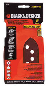 Black and Decker  Mega Mouse  6 in. W x 4-3/8 in. L 80/120/220 Grit Assorted  Aluminum Oxide  Sandpa