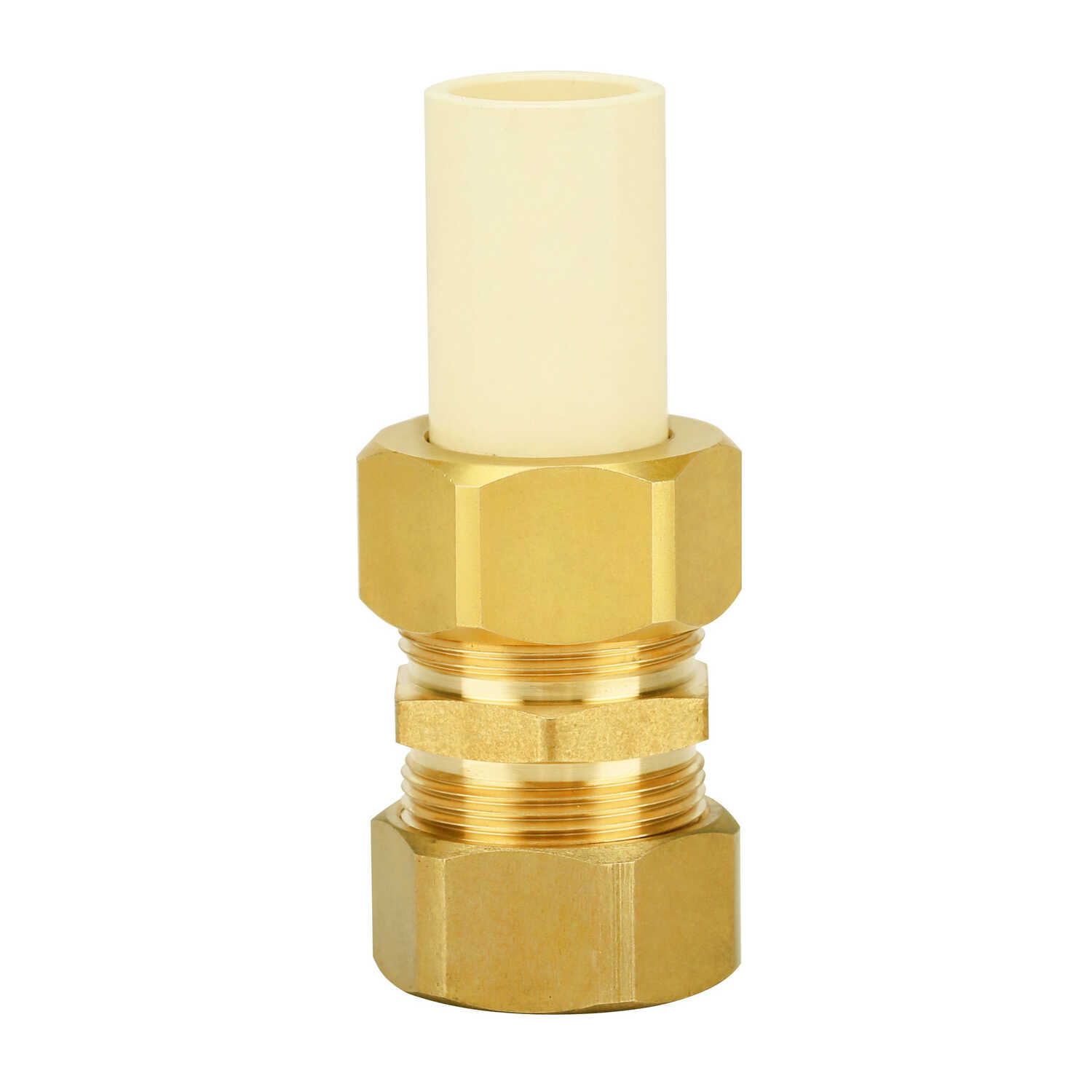 Homewerks  Schedule 40  3/4 in. Compression   x 7/8 in. Dia. Compression  Brass  Adapter Coupling