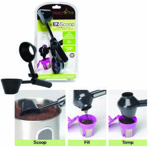 Perfect Pod  EZ-Scoop  Black  Scoop/Funnel  Plastic