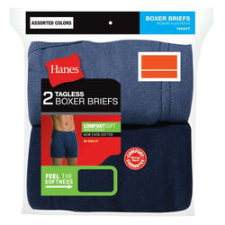 Hanes  ComfortSoft  XL  Men's  Assorted  Boxer Briefs