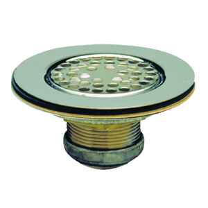 Keeney  3-1/2 to 4 1/2 in. Polished Chrome  Stainless Steel  Sink Strainer