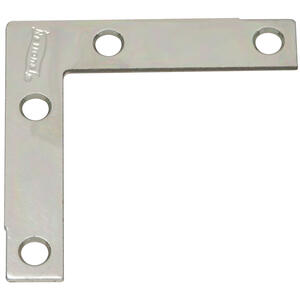 National Hardware  2-1/2 in. H x 1/2 in. W x 0.07 in. D Zinc-Plated  Steel  Corner Brace