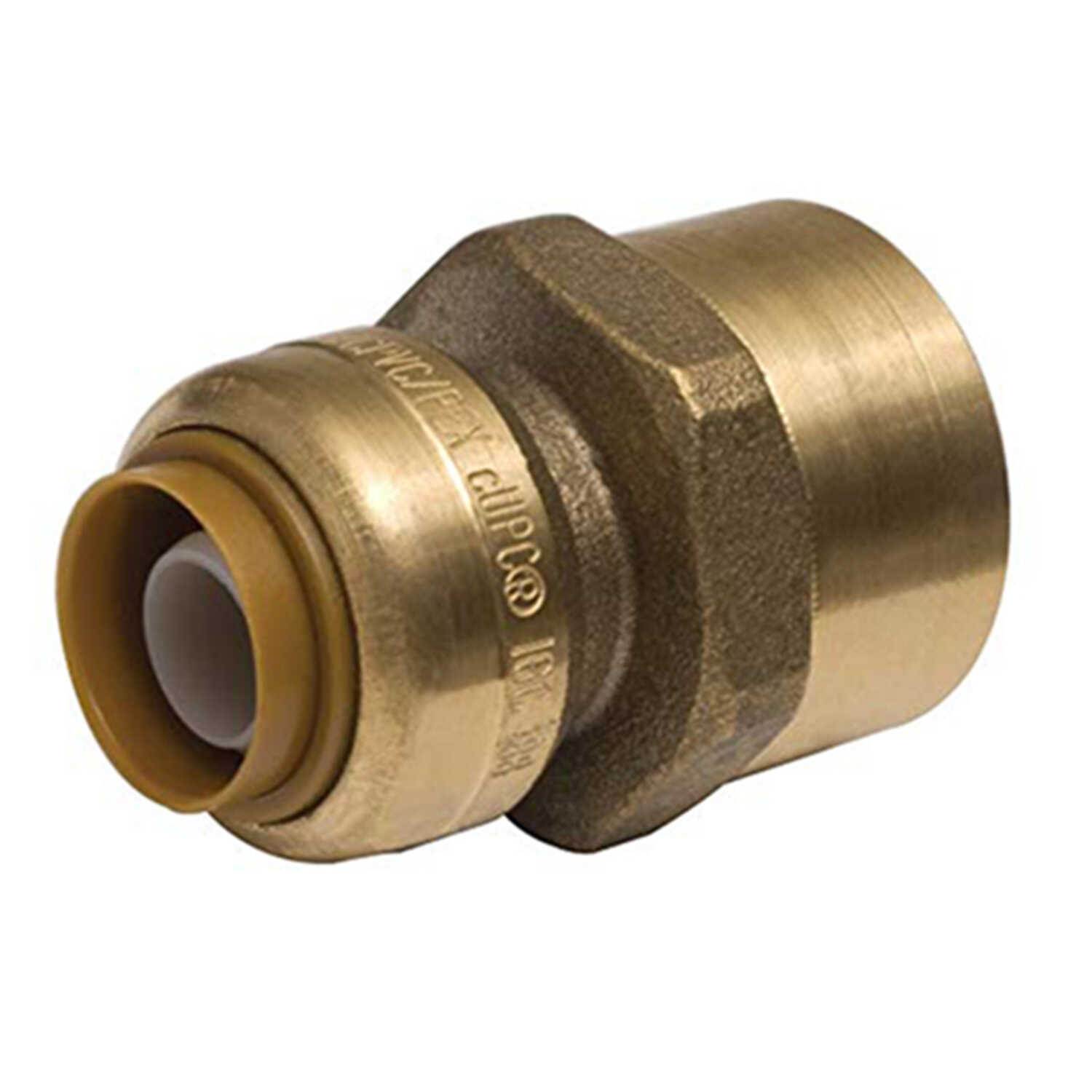 SharkBite  3/8 in. Push   x 1/2 in. Dia. Female  Brass  Connector