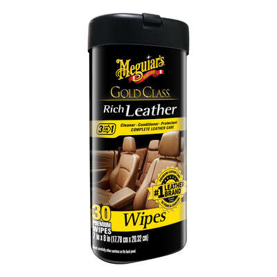 Meguiar's Gold Class Leather Cleaner/Conditioner Wipes 25 count