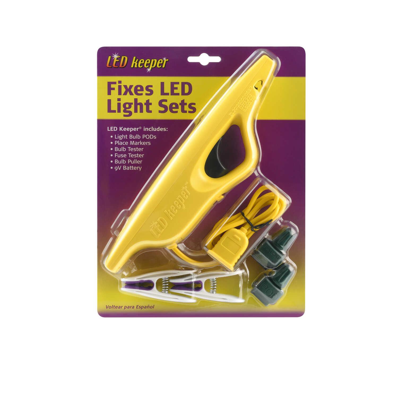 Led Keeper Christmas Light Repair Tool Yellow Plastic