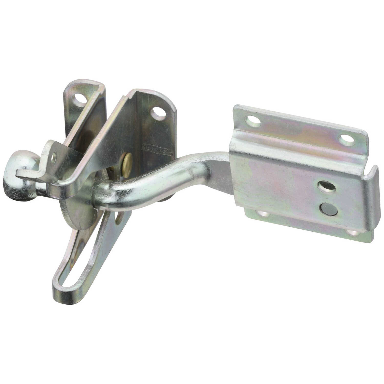MaxLatch  Zinc-Plated  Silver  Steel  Automatic  Gate Latch