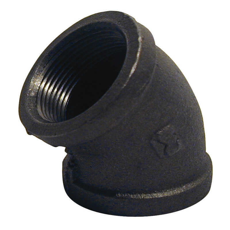 B & K  1/2 in. FPT   x 1/2 in. Dia. FPT  Black  Malleable Iron  Elbow