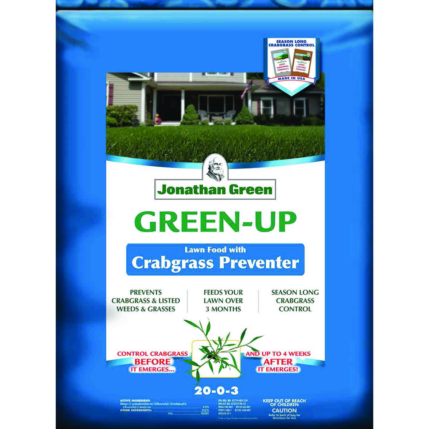 Jonathan Green  Green-Up  20-0-3  Crabgrass Preventer with Fertilizer  For All Grass Types 48 lb.
