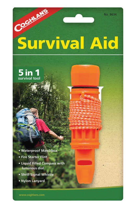 Coghlan's  Orange  Survival Aid  7.750 in. H x 4.500 in. W x 1.125 in. L 1 pk