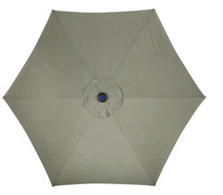 Living Accents Solar LED 9 Tiltable Taupe Market Umbrella