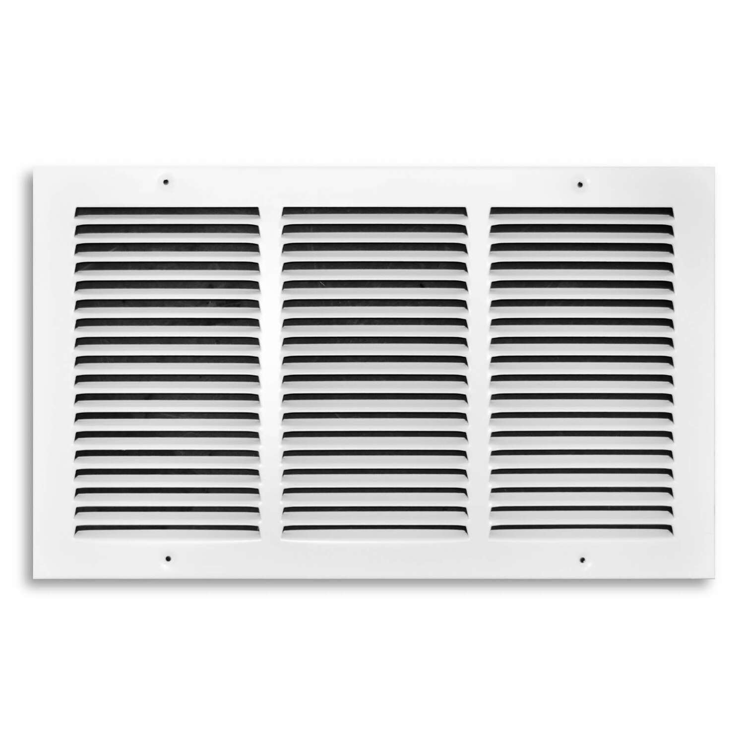 Tru Aire  10 in. H x 18 in. W 1-Way  Powder Coat  White  Steel  Return Air Grille