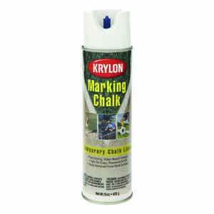 Krylon  Professional  White  Field Marking Chalk  15 oz.