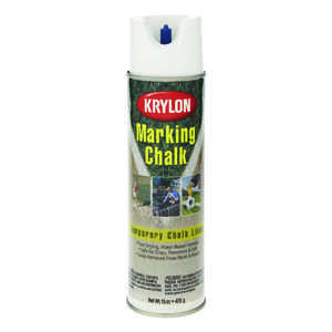 Krylon  Professional  White  15 oz. Field Marking Chalk