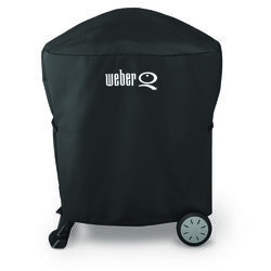 Weber  Black  Grill Cover  For Weber Q 100/1000 and Weber Q 200/2000 grills with 32.2 in. W x 35 in.