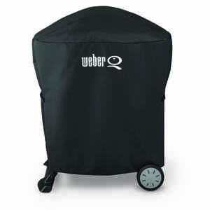 Weber  Black  Grill Cover  32.2 in. W x 17.3 in. D x 35 in. H For Fits Weber Q 100/1000 and Weber Q