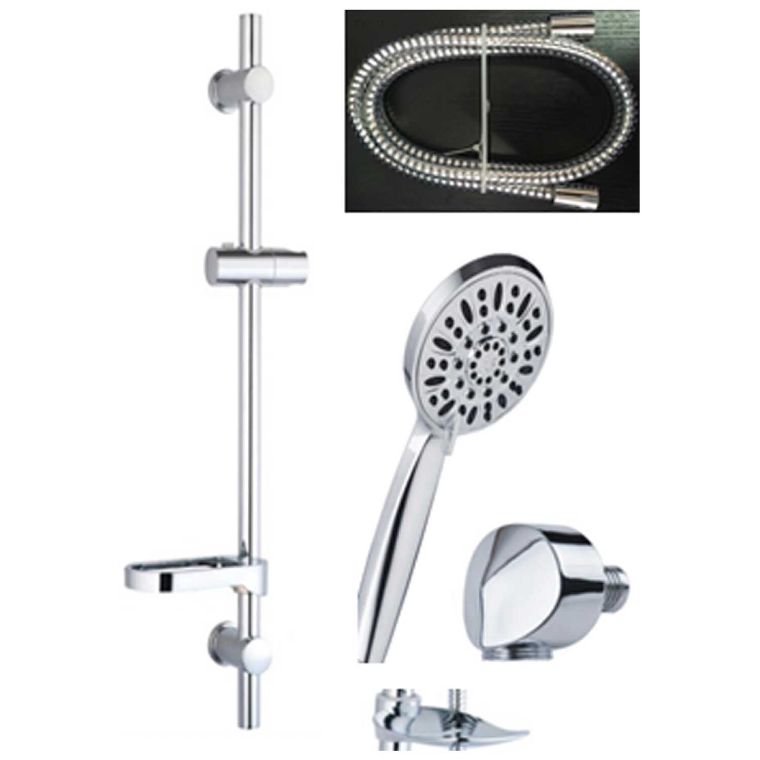 OakBrook  Chrome  3 settings Showerhead With Slide Bar  1.8 gpm