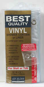 Excell  70 in. H x 78 in. W Frosted  Solid  Shower Curtain Liner