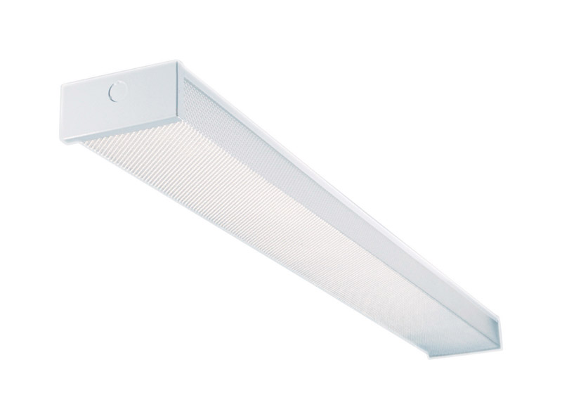 T8 Fluorescent Wraparound Light Fixture 48 In L X