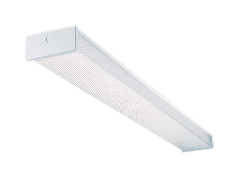 Metalux 2 Lights Fluorescent Light Fixture 48 In