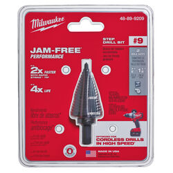 Milwaukee  JAM-FREE  7/8 to 1-1/8 in.  x 6 in. L Black Oxide  Step Drill Bit  1 pc.