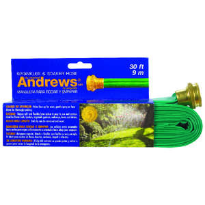 Andrews  1 in. Dia. Sprinkler and Soaker  Green  Gentle Soaker