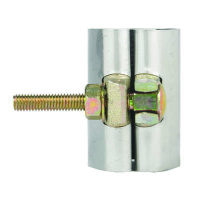 BK Products 1-1/2 in. Galvanized 430 Stainless Steel Pipe Repair Clamp