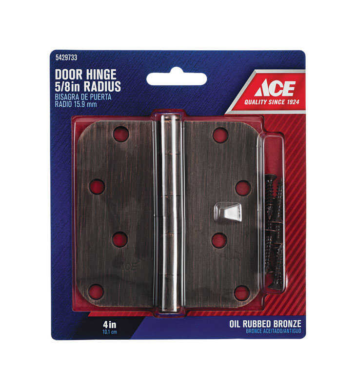 Ace  4 in. L Oil Rubbed Bronze  Steel  Door Hinge  1 pk