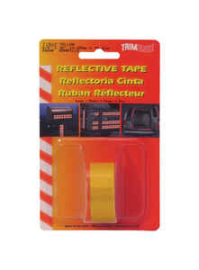 Trim Brite  0.75 in. W x 30 in. L Yellow  Reflective Tape