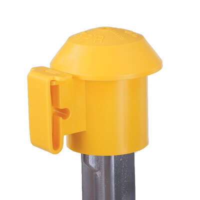 Dare Products  Top'R  Electric-Powered  T-Post Safety Top  Yellow
