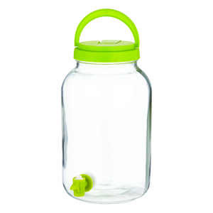 Circleware  1  Clear  Glass  Contemporary  Tea Jar with Tapper  1 pk