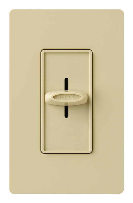 Lutron  Skylark  Ivory  600 watts Slide  Dimmer Switch  1 pk